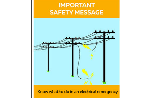 A safety message from Ausgrid