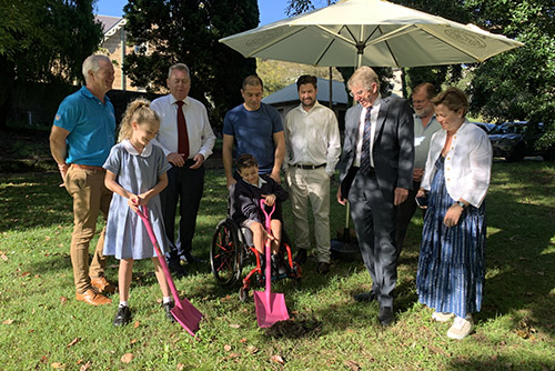 Ground breaking for new playspace at Riverglade Reserve